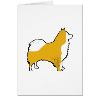 Icelandic Sheepdog color silhouette Card