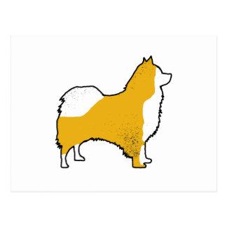 Icelandic Sheepdog color silhouette Postcard