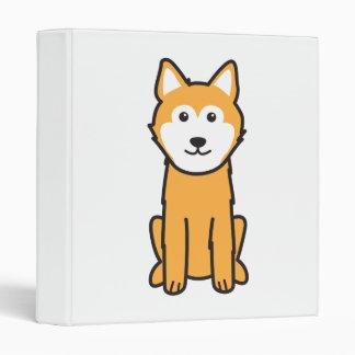 Icelandic Sheepdog Dog Cartoon Vinyl Binder