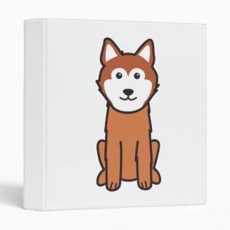 Icelandic Sheepdog Dog Cartoon 3 Ring Binders