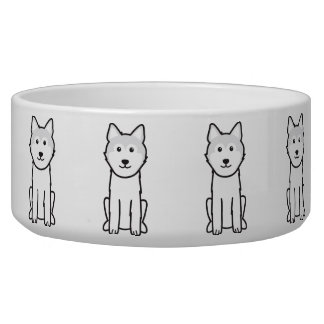 Icelandic Sheepdog Dog Cartoon Dog Bowl