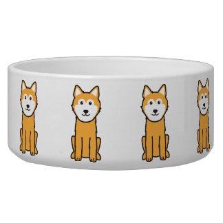 Icelandic Sheepdog Dog Cartoon Dog Water Bowls