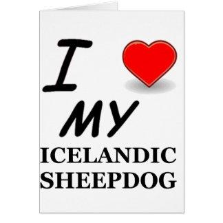 icelandic sheepdog love card