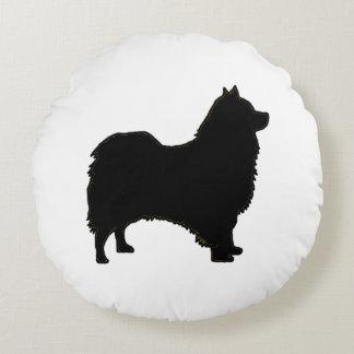 Icelandic Sheepdog silo black.png Round Pillow