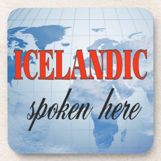 Icelandic spoken here cloudy earth drink coaster
