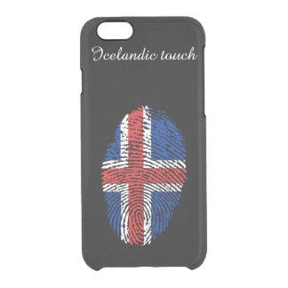 Icelandic touch fingerprint flag clear iPhone 6/6S case