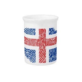 Icelandic touch fingerprint flag drink pitcher