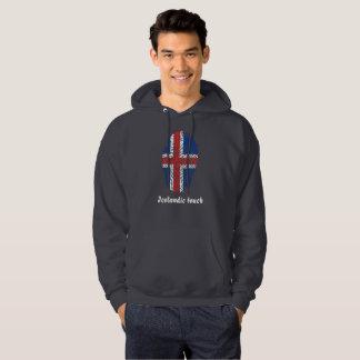 Icelandic touch fingerprint flag hoodie