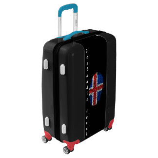 Icelandic touch fingerprint flag luggage