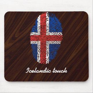 Icelandic touch fingerprint flag mouse pad