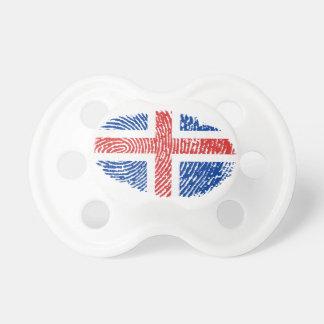 Icelandic touch fingerprint flag pacifier