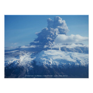 Icelandic Volcano Eruption Poster