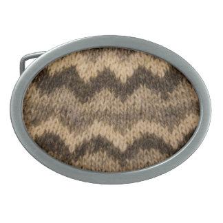 Icelandic wool pattern belt buckles