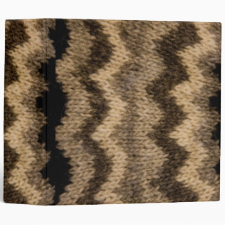 Icelandic wool pattern 3 ring binders