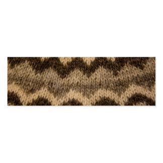 Icelandic wool pattern business card template