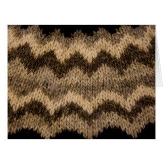 Icelandic wool pattern card