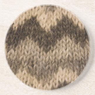 Icelandic wool pattern coasters