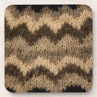 Icelandic wool pattern drink coaster