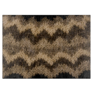 Icelandic wool pattern cutting boards