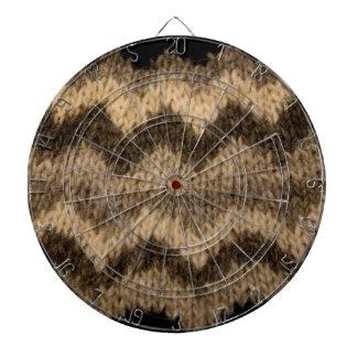 Icelandic wool pattern dart board