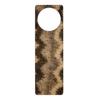 Icelandic wool pattern door hanger