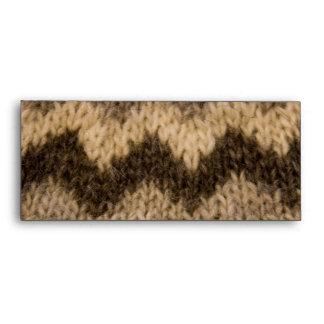 Icelandic wool pattern envelopes