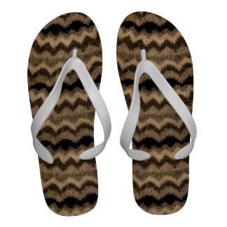 Icelandic wool pattern Flip-Flops