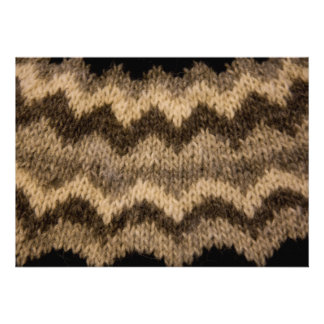 Icelandic wool pattern personalized announcements