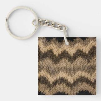 Icelandic wool pattern acrylic keychains