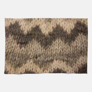 Icelandic wool pattern towels