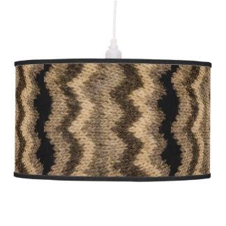 Icelandic wool pattern hanging pendant lamps