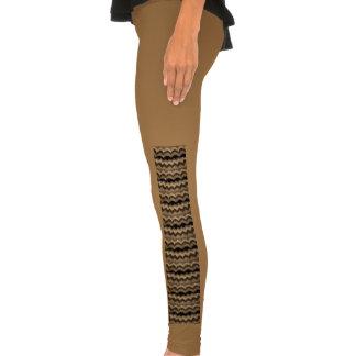 Icelandic wool pattern legging tights