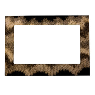 Icelandic wool pattern magnetic frame