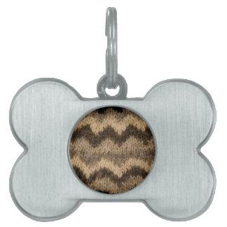 Icelandic wool pattern pet name tags