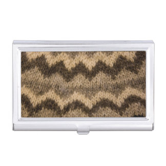 Icelandic wool pattern business card holder