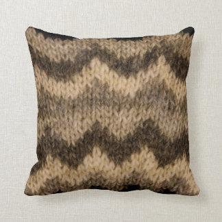 Icelandic wool pattern throw pillow