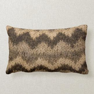 Icelandic wool pattern pillow
