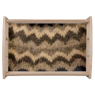 Icelandic wool pattern serving tray