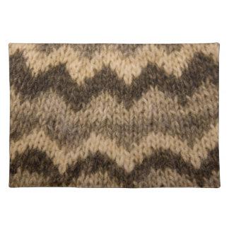 Icelandic wool pattern placemats