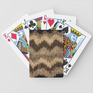 Icelandic wool pattern bicycle card deck