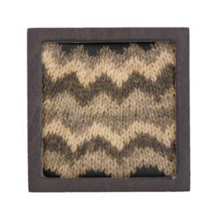 Icelandic wool pattern premium jewelry box