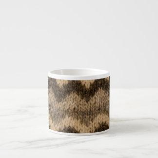 Icelandic wool pattern espresso mug