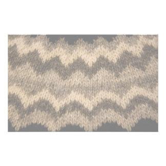 Icelandic wool pattern stationery paper