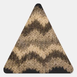 Icelandic wool pattern triangle stickers