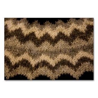 Icelandic wool pattern table card
