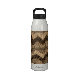Icelandic wool pattern water bottles