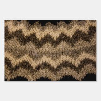 Icelandic wool pattern signs