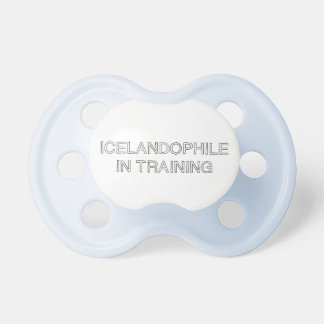 Icelandophile in training pacifier