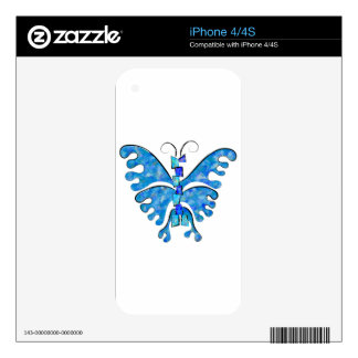 Icelonius - blue ice butterfly skins for iPhone 4
