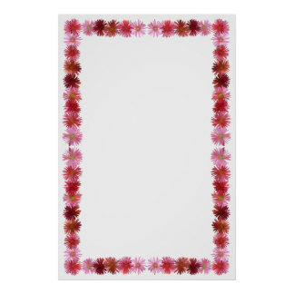 Iceplant Flower Border on Customizable Background Poster